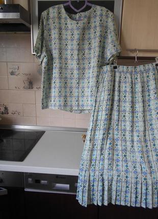 #распродажа#debenhams#винтажный стильный костюм плиссе #большой размер 18 #
