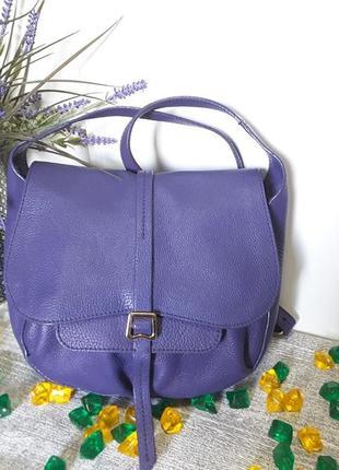 Классная сумочка кроссбоди из натуральной кожи