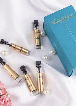 Набор из 5 ароматов bibliotheque de parfum