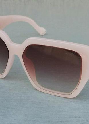 Gucci очки женские солнцезащитные розово пудровые с цветами градиент