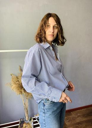 Шикарная хлопковая рубашка2 фото