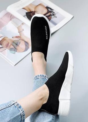 Кроссовки носки кеды материал обувной текстиль цвет черный4 фото