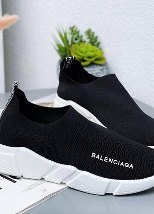 Кроссовки носки кеды материал обувной текстиль цвет черный2 фото