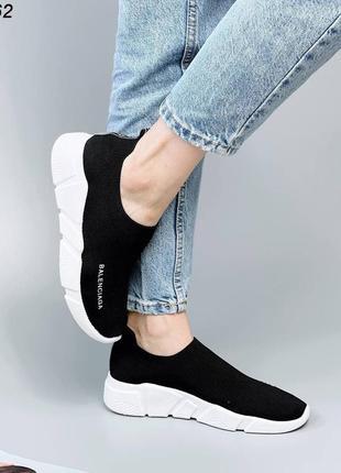 Кроссовки носки кеды материал обувной текстиль цвет черный