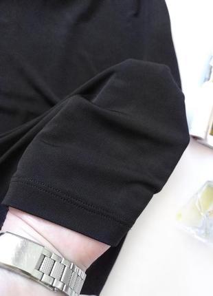 Черный топ на бретелях майка в бельевом стиле h&m3 фото
