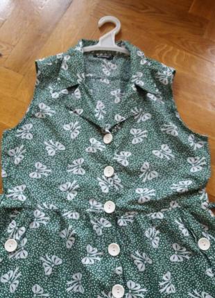 Хлопковое платье- халат р.182 фото