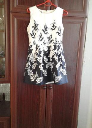 Комбинированное черно-белое жаккардовое платье а 1 studios