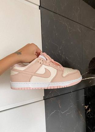 Dunk low retro white pink кроссовки кросівки 36,37,38,39,40 кожаные3 фото