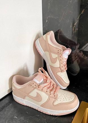 Dunk low retro white pink кроссовки кросівки 36,37,38,39,40 кожаные8 фото