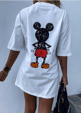 Платье туника - 2 цвета- женская футболка, удлиненная футболка (арт 100305)