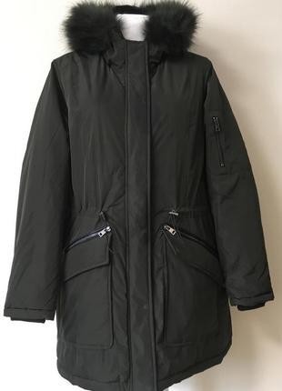 Шикарная теплющая брендовая парка, куртка, пуховик. батал.