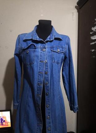 Джинсовое платье2 фото