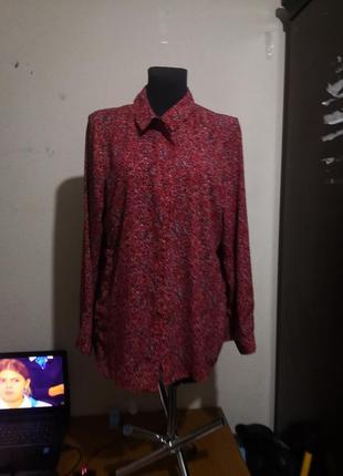 Блузка рубашка в принт