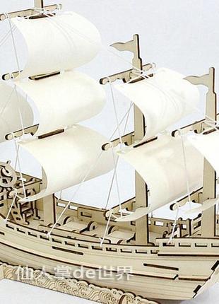 Развивающий деревянный 3d конструктор пазл robotime корабль румбокс