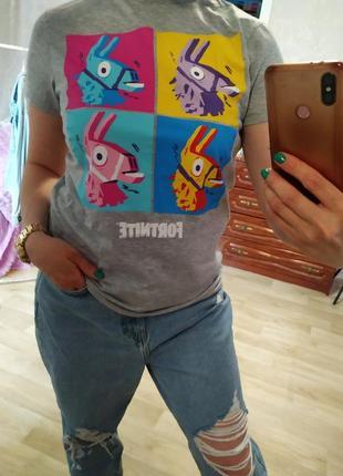 Яркая футболка серая футболка primark