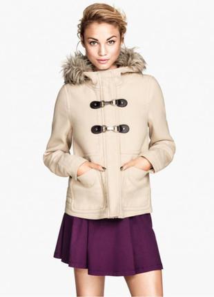 Бежевое пальто h&m