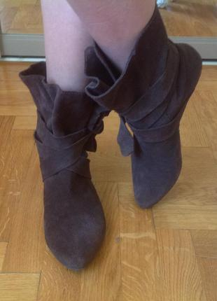 Ботинки замшевые  lilly's closet