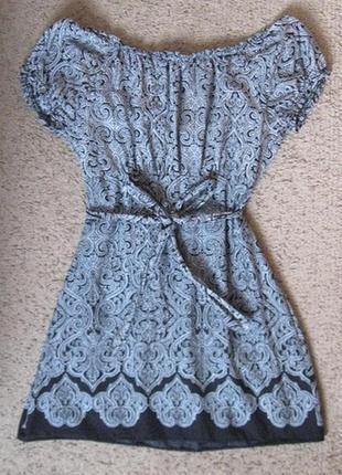 Платье хб летнее черно-белое с большим декольте10 фото