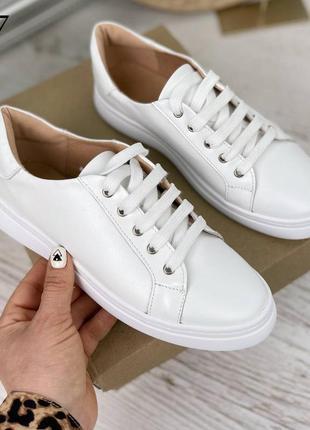 Базовые белые кеды ❤️❤️ натуральная кожа 👌