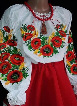 Красивейшая вышиванка для девочки.вишиванка