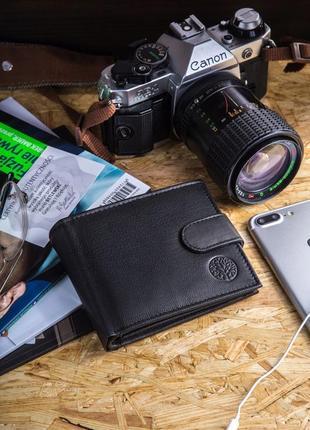 Шкіряний чоловічий гаманець betlewski з rfid 9,5 х 12,5 х 2
