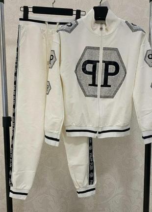 Бомбезный белоснежный костюм, люкс качество, размер с.