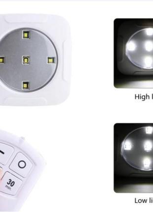 Светодиодный сенсорный ночник с пультом setof3