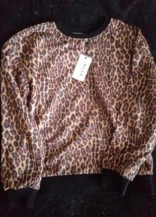 Стильный леопардовый свитшот2 фото