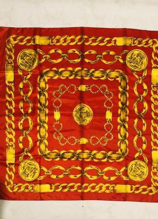 Яркий шелковый платок в китайском стиле