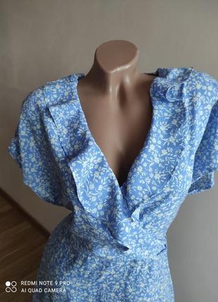 Нежное вискозное платье с рюшей2 фото