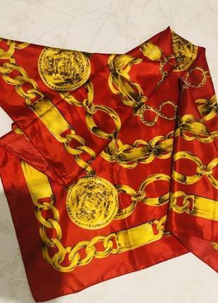 Яркий шелковый платок в китайском стиле2 фото