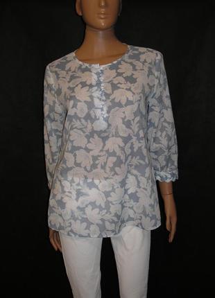 Легкая блуза из хлопка laura aushley eur38-40/uk12