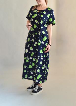 5097\66 легкое платье в цветочный принт etam xxxxl