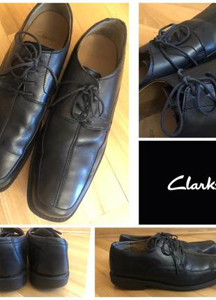 Мужские кожаные туфли clark's 44