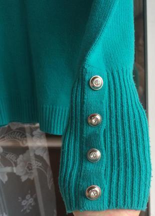 Тёплый бирюзовый свитерок
