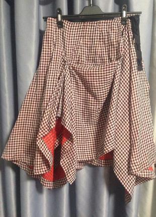 Креативная панк юбка alexander mcqueen