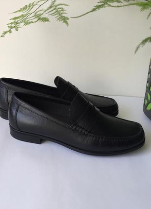 Туфлі лофери шкіряні оригінал ecco dris 661804 розмір 41