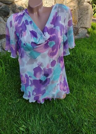 Красивая легкая шифоновая блуза mark's spencer