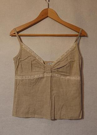 Женский топ майка vilonna, xxs, xs, s m-l, 40р блуза блузка лен хлопок