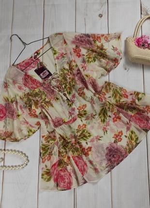 Блуза туника новая шифоновая свободного кроя joe browns uk 18/46/xxl