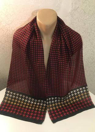 160*33 новый немецкий шёлковый шарф