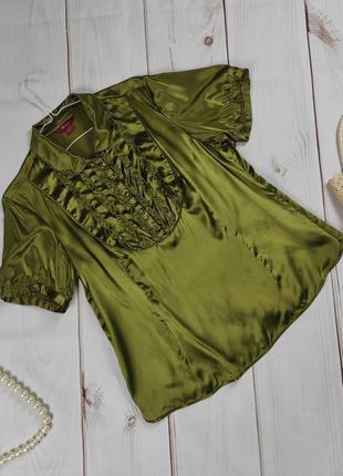 Блуза шикарная шелковая оригинальная с рюшами monsoon uk 18/46/xxl