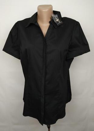 Блуза рубашка новая стрейчевая красивая uk 14/42/l