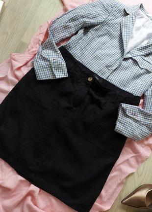 Лляная юбка  р 42-44