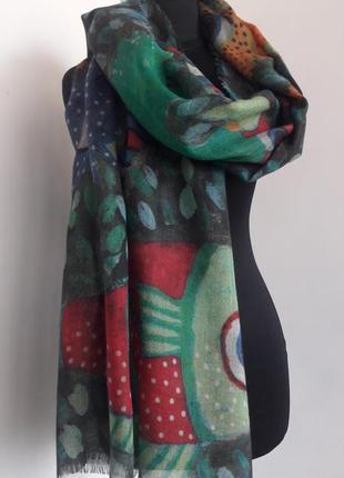 Эксклюзивный невероятный дизайнерский шарф-палантин ручной работы от kuna, 200*70