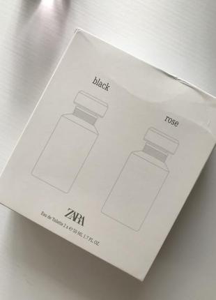 Zara rose zara black 50ml набор2 фото