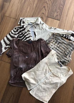 Майки/футболки с животным принтом (сафари, тигр, змея, песок)