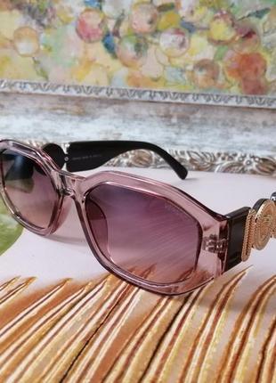 Эксклюзивные солнцезащитные женские нюдовые прозрачные розовые очки