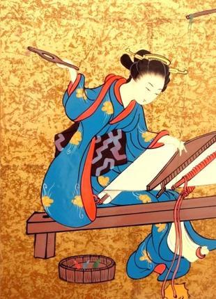 Картина из коллекции гейши лак ручная работа