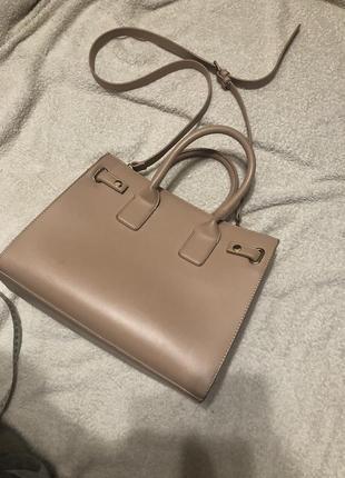 Женская сумка пудровка розового цвета